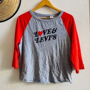 LOVE LEVI'S raglan retro shirt M women's top